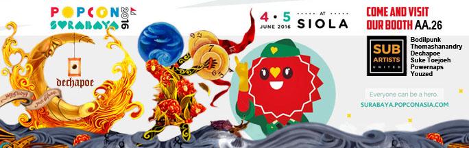 Dechapoe at Popcon Surabaya Schedule